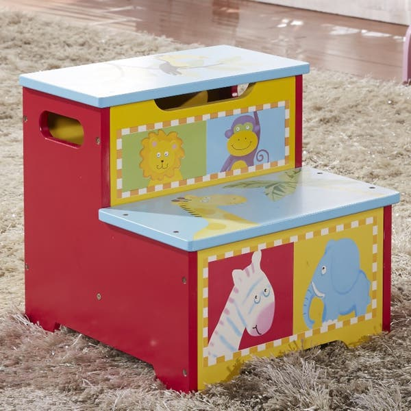 Magnificent Childrens Storage Step Stool Beatyapartments Chair Design Images Beatyapartmentscom
