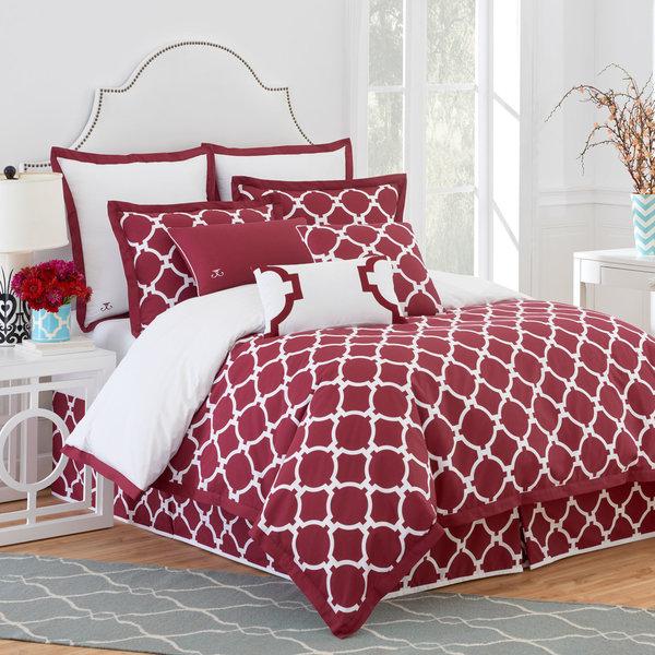 Jill Rosenwald Hampton Links Garnet 4-piece Comforter Set