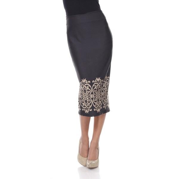 7d61ae8043671 Shop White Mark Women s  Cynthia  Print Midi Skirt - Free Shipping ...