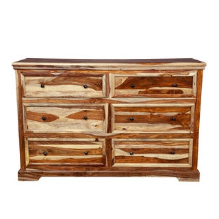 Handmade Porter Taos Solid Sheesham 6 Drawer Dresser (India)
