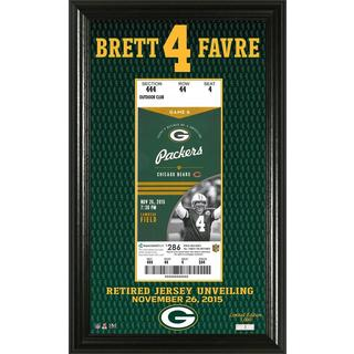 Brett Favre Jersey Retirement Ticket Frame