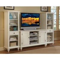 Bermuda Brushed White 3PC Entertainment Center by Home Styles