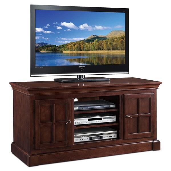 shop bella maison two door 52 inch tv console w open. Black Bedroom Furniture Sets. Home Design Ideas