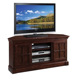 Bella Maison Two Door 52-inch Corner TV Console w/open component bay