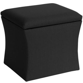 Furniture Of America Espresso Bicast Leather Ottoman Flip