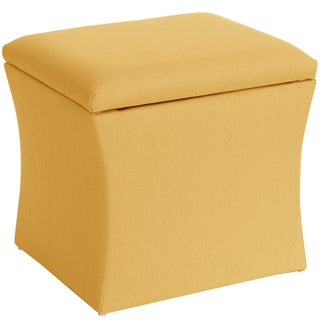Skyline Furniture Storage Ottoman in Klein Mustard