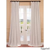 "Exclusive Fabrics Faux Silk Taffeta Solid Blackout Curtain Panel 108"" in Eggshell (As Is Item)"