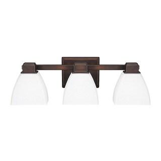 Capital Lighting Transitional 3-light Burnished Bronze Bath/Vanity Light