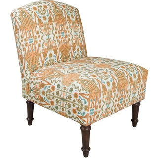 Skyline Furniture Camel Back Chair in Bombay Mango Cotton
