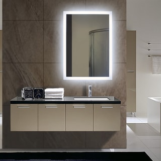 Rectangular Backlit Small LED Mirror