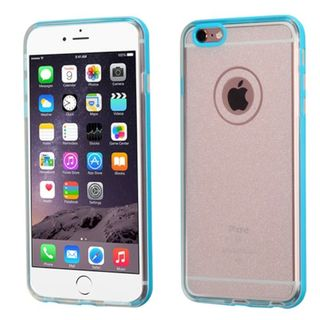 Insten Clear Hard Snap-on Dual Layer Hybrid Glitter Case Cover For Apple iPhone 6 Plus/6s Plus