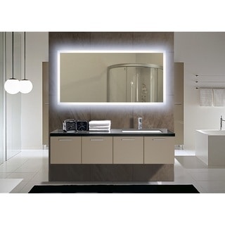 Rectangular Backlit Medium LED Mirror