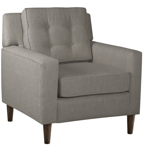 Skyline Furniture Arm Chair In Linen Grey