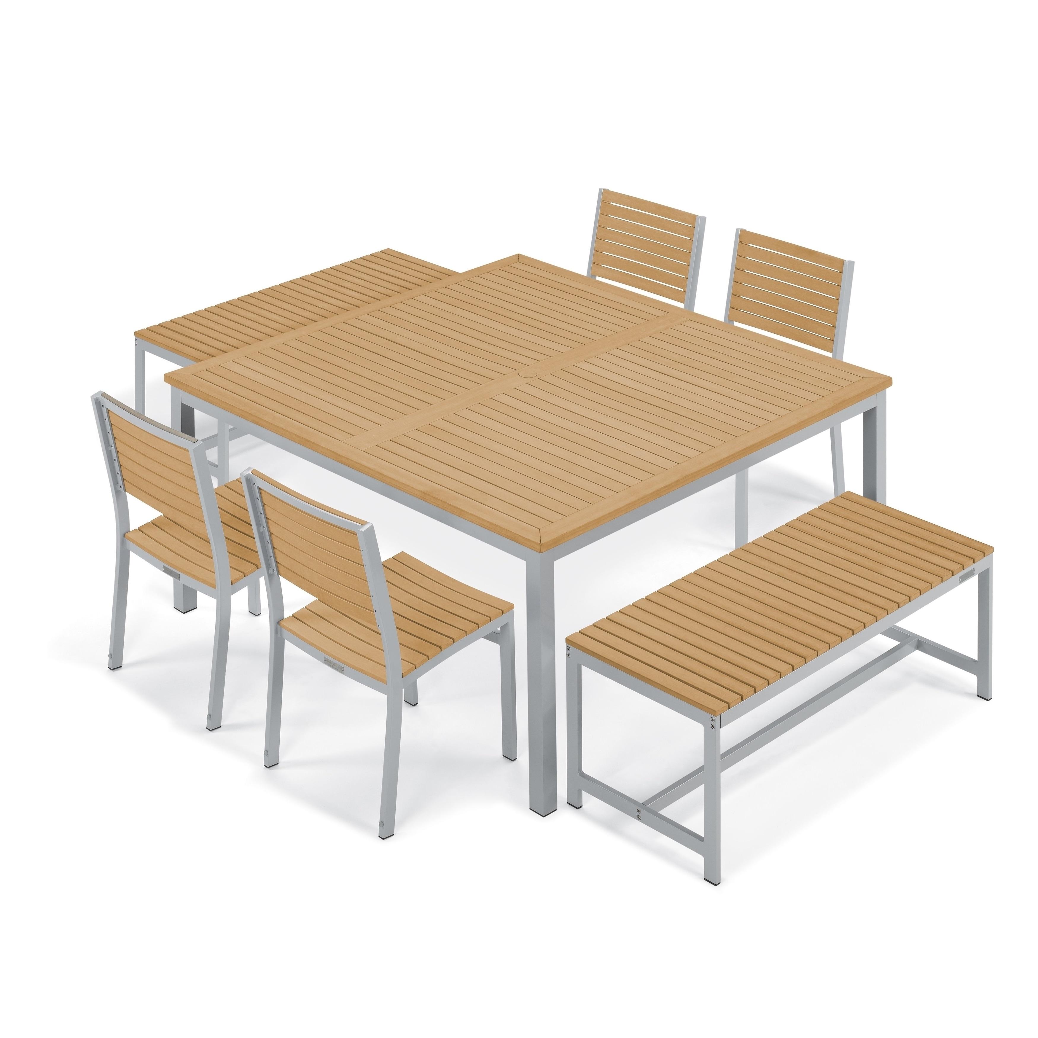 Oxford Garden Travira 7-Piece Dining Set - Natural Tekwoo...