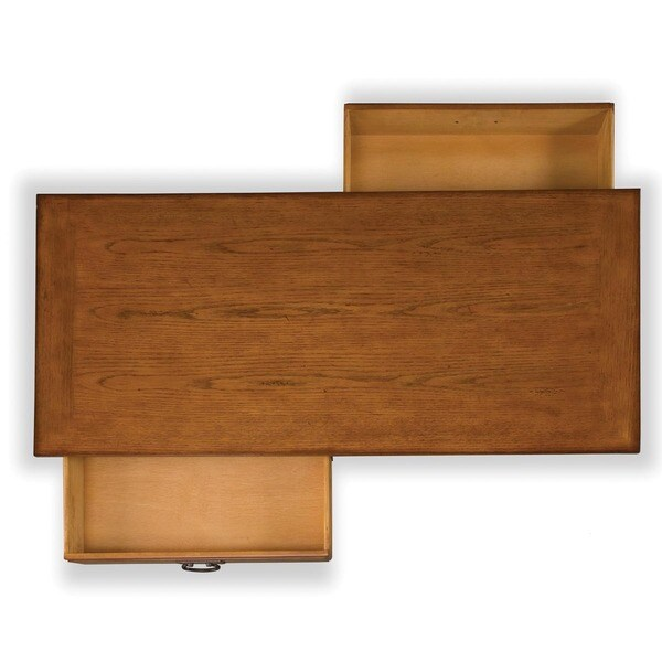 Modern Craftsman Distressed Oak Coffee Table by Home Styles Free