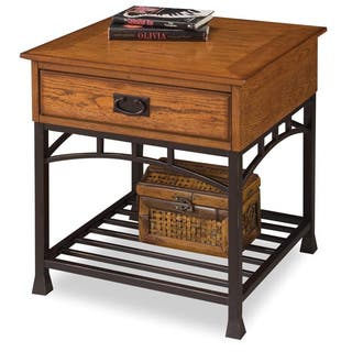 modern craftsman distressed oak end table by home styles - Distressed End Tables
