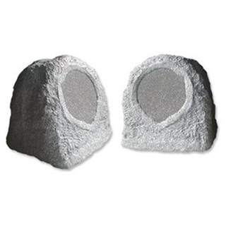 Acoustic Audio RS6GG Outdoor Garden Waterproof Granite Rock 500-watt Patio Speaker Pair
