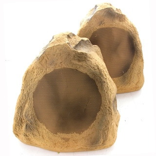 Acoustic Audio B6RS Brown 600-watts Indoor/ Outdoor Weatherproof 6.5-inch Rock Speaker (Pair)