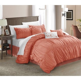 Chic Home Frances 11-piece Peach Comforter Bed-in-a Bag Set - Thumbnail 0