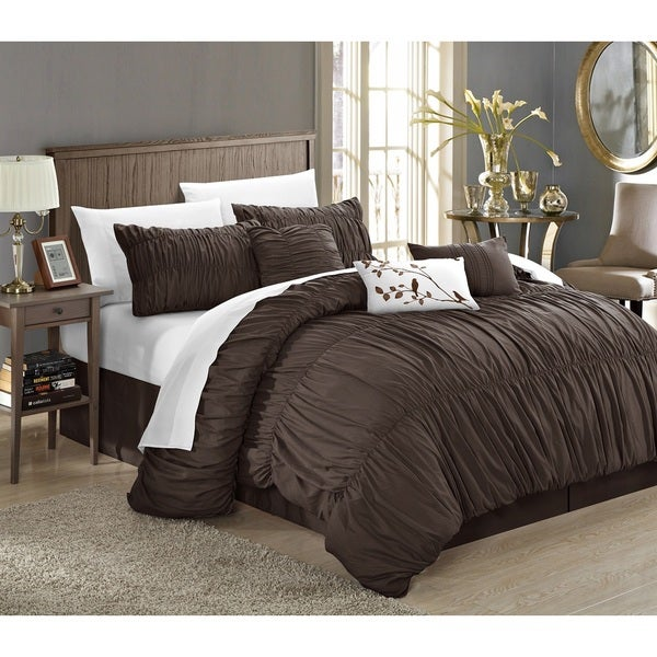 Chic Home Frances 11-piece Coffee Comforter Bed-in-a-Bag Set