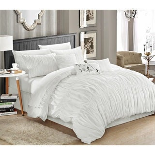 Chic Home Frances White 11-piece Bed-in-a-Bag with Sheet Set