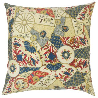 Woape Geometric 18-inch Feather and Down Filled Throw Pillow