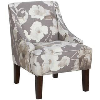 Skyline Furniture Swoop Arm Chair in Adagio Driftwood