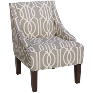 Skyline Furniture Swoop Arm Chair in Deco Slate