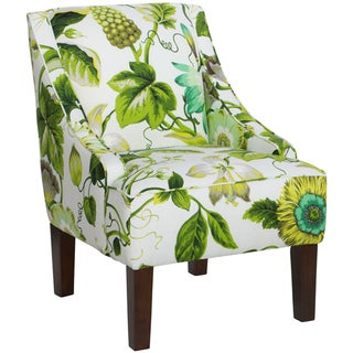 Skyline Furniture Swoop Arm Chair in Grandiflora Jardin