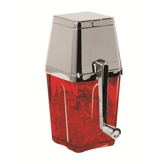 Metrokane Red Retro Ice Crusher With Chrome Lid