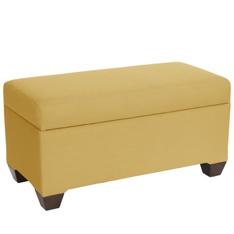Skyline Furniture Storage Bench in Klein Mustard