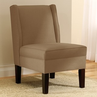 Skyline Furniture Wingback Chair in Linen Taupe