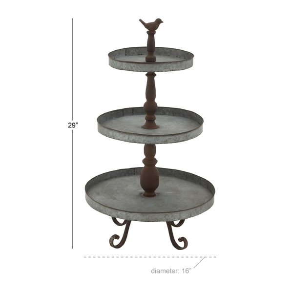 Classic 3 Tier Metal Tray Stand
