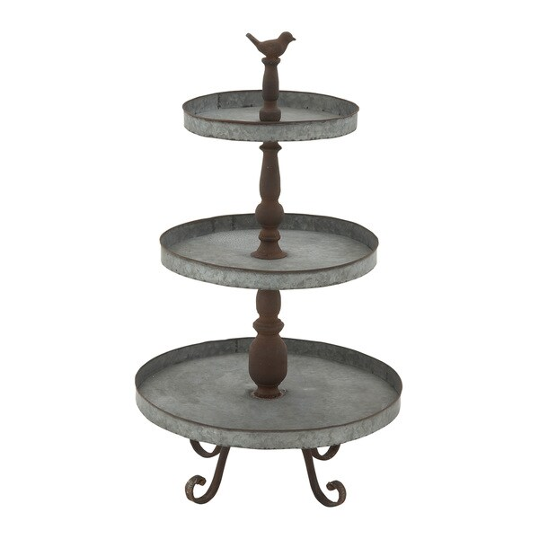 Clic 3 Tier Metal Tray Stand