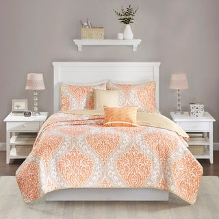 Intelligent Design Sabrina Orange Coverlet Set (2 options available)