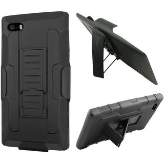 Insten Black Car Armor Hard PC/ Silicone Dual Layer Hybrid Case Cover with Holster For Apple iPhone 6 Plus/ 6s Plus