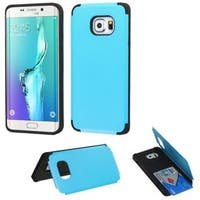 Insten Hard Snap-on Rubberized Matte Case Cover with Card Slot For Samsung Galaxy S6 Edge Plus