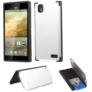 Insten Hard Snap-on Rubberized Matte Case Cover with Card Slot For ZTE Warp Elite