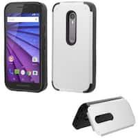 Insten Hard Snap-on Rubberized Matte Case Cover with Card Slot For Motorola Moto G(3rd Gen)