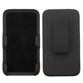 Insten Black Hard Snap-on Holster Belt Clip For LG Optimus Exceed 2 VS450PP Verizon/Optimus L70/Realm/Ultimate 2