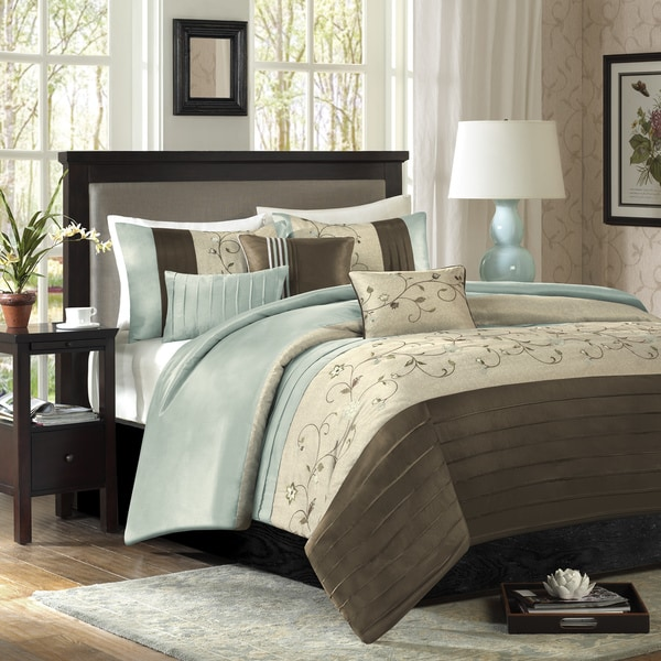 Madison Park Grace Blue 6-piece Duvet Cover Set