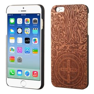 Insten Brown Constantine Cross Wood Case Cover For Apple iPhone 6/ 6s