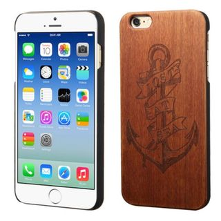 Insten Brown Lost At Sea Wood Case Cover For Apple iPhone 6/ 6s