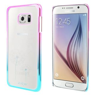 Insten Clear/Blue Dandelion Hard Snap-on Rubberized Matte Case Cover For Samsung Galaxy S6 Edge Plus