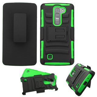Insten Hard PC/ Silicone Dual Layer Hybrid Case Cover with Holster For LG Magna/ Volt 2