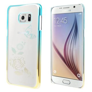 Insten Clear Butterfly Hard Snap-on Rubberized Matte Case Cover For Samsung Galaxy S6 Edge Plus