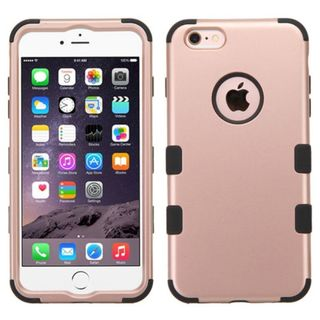 Insten Rose Gold Tuff Hard PC/ Silicone Dual Layer Hybrid Rubberized Matte Case Cover For Apple iPhone 6 Plus/6s Plus