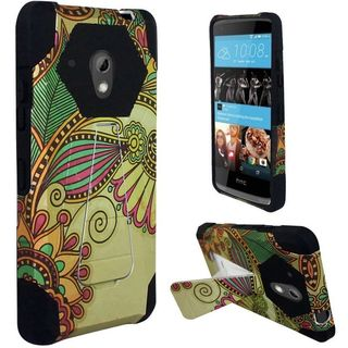 Insten Hard PC/ Silicone Dual Layer Hybrid Case Cover with Stand For HTC Desire 520
