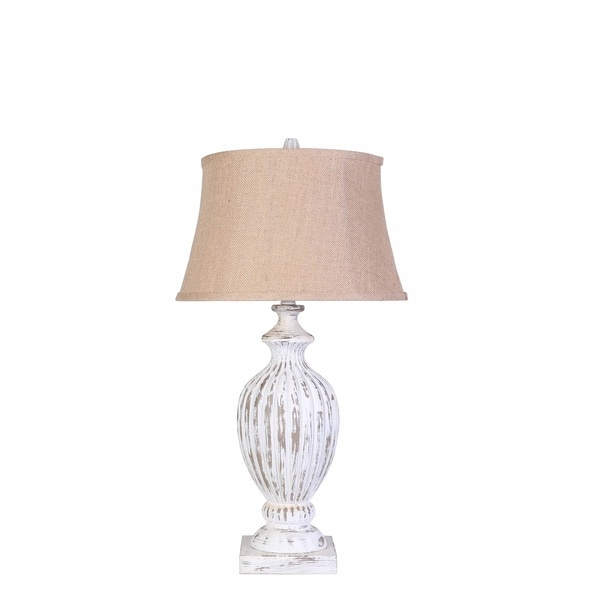 Rustic LasVegas Table Lamp with White Finish