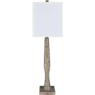 Contemporary Lucent Table Lamp with Taupe Finish